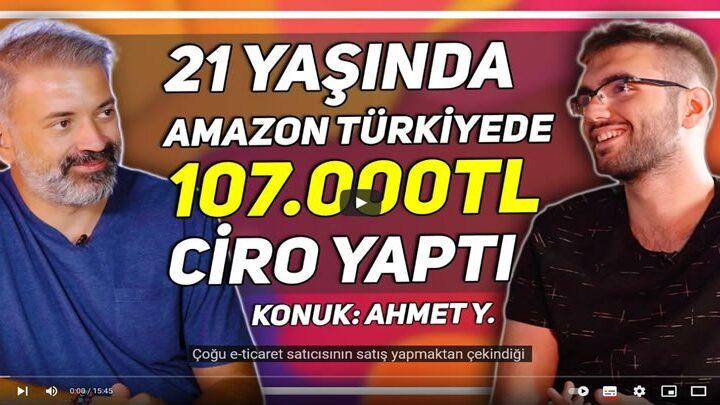 21 Yaşında Amazon Türkiye'de 107 Bin TL Ciro Yapan Girişimci