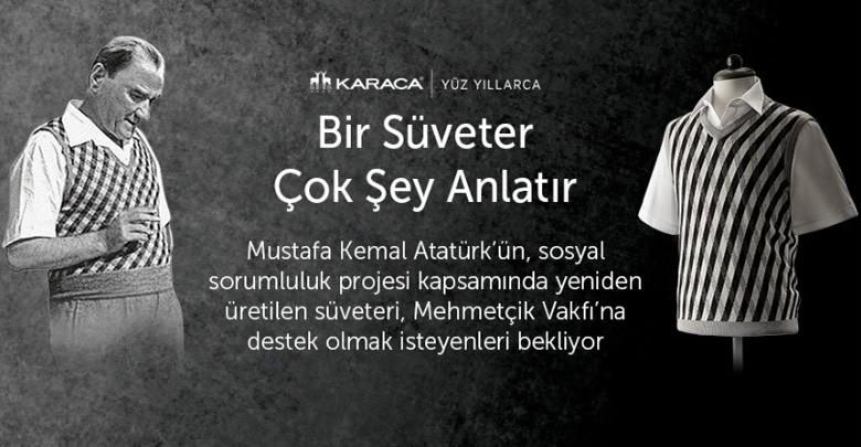Atatürk süveteri için yeni bir kampanya hazırlığında